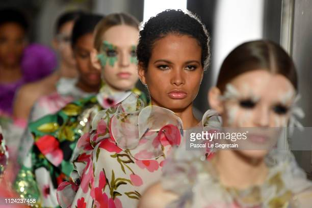 Models walk the runway during the Valentino Spring Summer 2019 show as part of Paris Fashion Week on January 23 2019 in Paris France