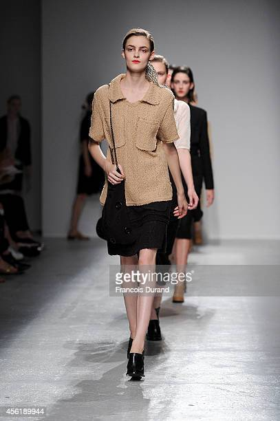 Models walk the runway during the Veronique Leroy show as part of the Paris Fashion Week Womenswear Spring/Summer 2015 on September 27 2014 in Paris...