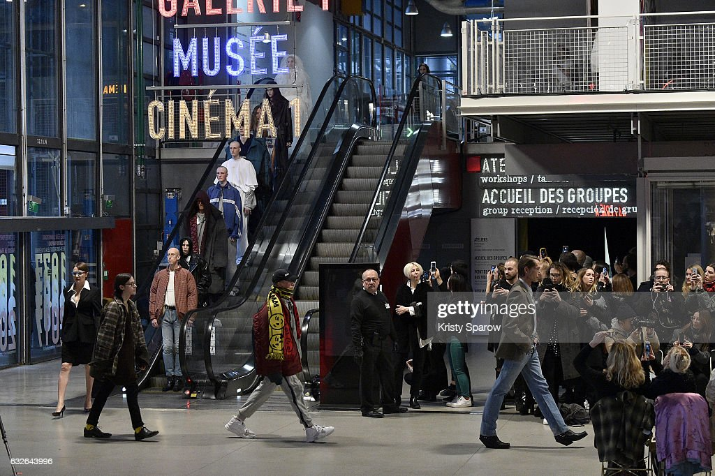 Vetements : Runway - Paris Fashion Week - Haute Couture Spring Summer 2017 : News Photo