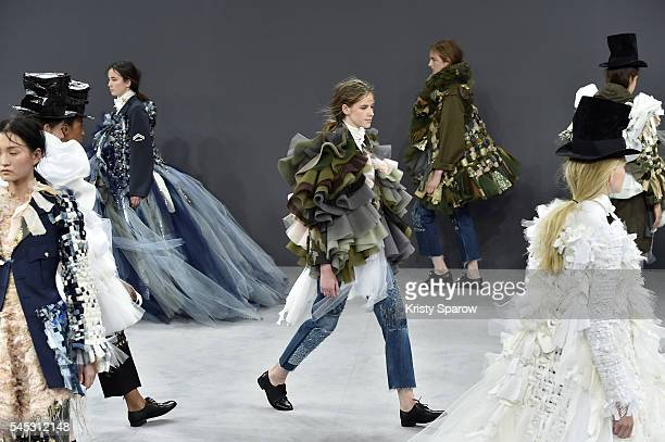Models walk the runway during the Viktor Rolf Haute Couture Fall/Winter 20162017 show as part of Paris Fashion Week on July 6 2016 in Paris France