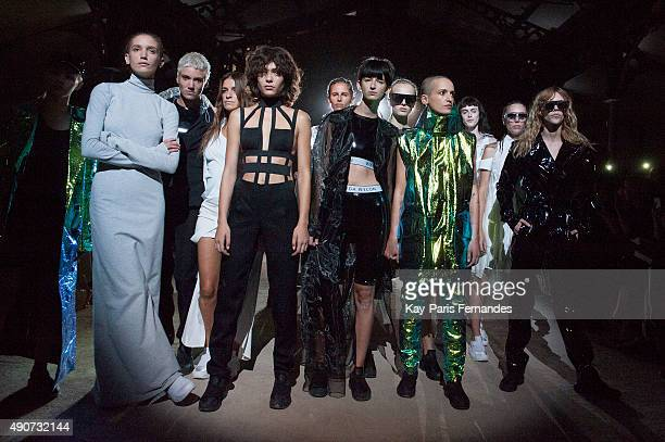 Models walk the runway during the Wanda Nylon show as part of the Paris Fashion Week Womenswear Spring/Summer 2016 on September 30, 2015 in Paris,...
