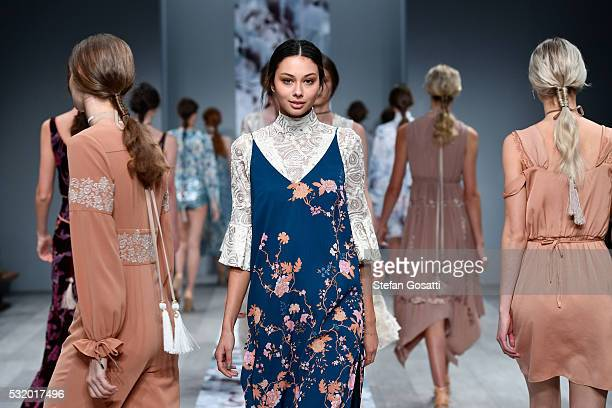 Models walk the runway during the We Are Kindred show at MercedesBenz Fashion Week Resort 17 Collections at Carriageworks on May 18 2016 in Sydney...