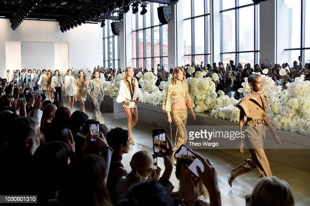 Models walk the runway during Zimmermann for New York Fashion Week The Shows at Gallery I at Spring Studios on September 10 2018 in New York City