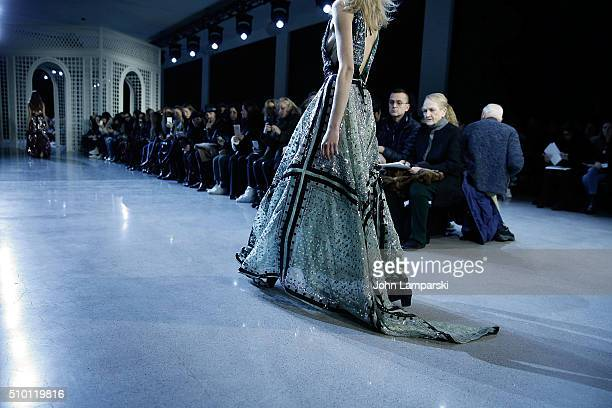 Models walk the runway fashion detail during the Altuzarra show during the Fall 2016 New York Fashion Week on February 13 2016 in New York City