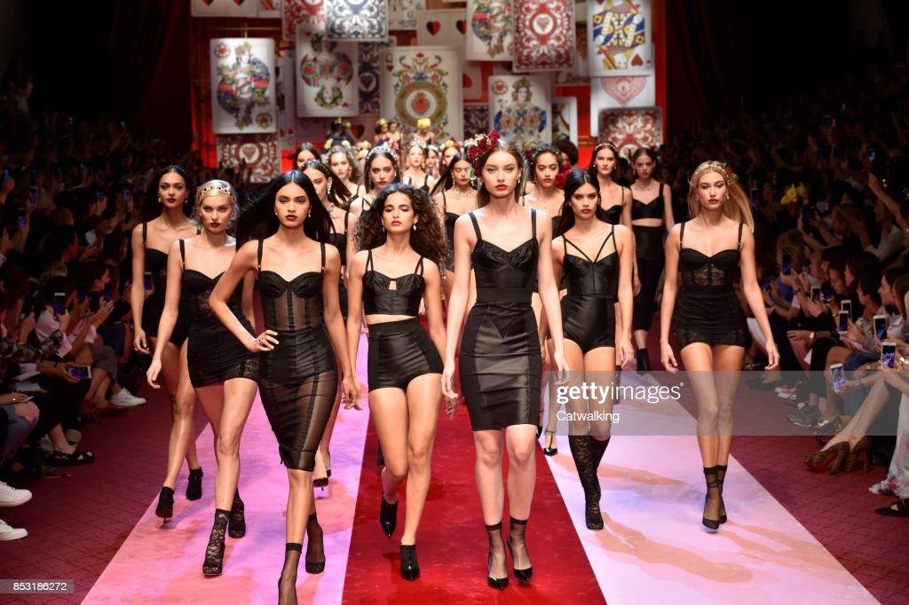 2d7de0ef Dolce & Gabbana - Runway RTW - Spring 2018 - Milan Fashion Week : News Photo