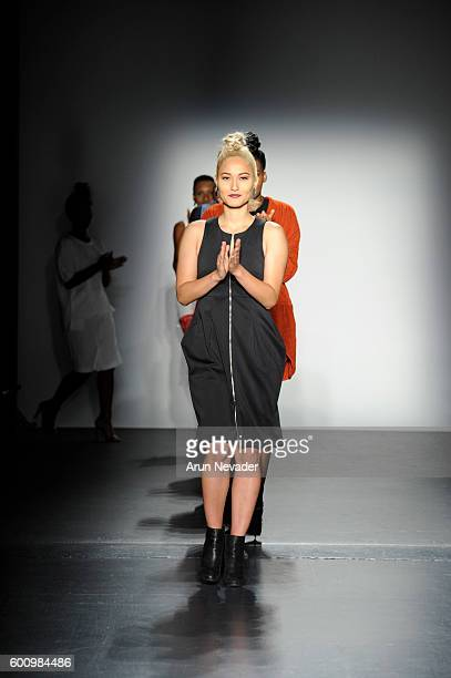 Models walk the runway finale for Terese Sydonna at the Harlem's Fashion Row fashion show during New York Fashion Week September 2016 at Pier 59 on...