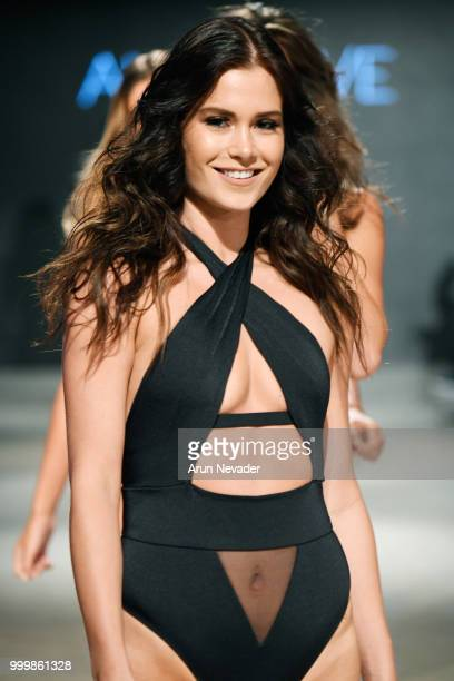 Models walk the runway for Alaia Eve at Miami Swim Week powered by Art Hearts Fashion Swim/Resort 2018/19 at Faena Forum on July 15 2018 in Miami...