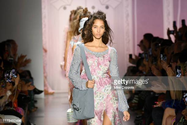 Models walk the runway for Anna Sui during New York Fashion Week: The Shows at Gallery I at Spring Studios on September 09, 2019 in New York City.