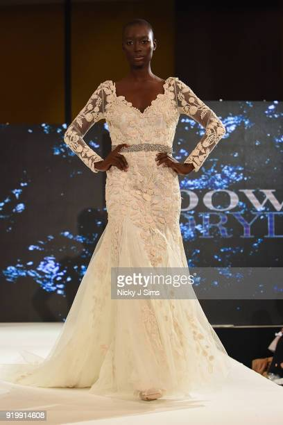 Models walk the runway for BowenDryden at the House of iKons show during London Fashion Week February 2018 at Millenium Gloucester London Hotel on...