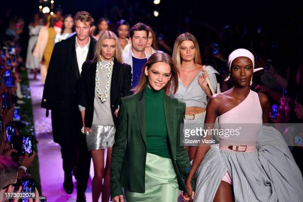 Models walk the runway for Brandon Maxwell during New York Fashion Week: The Shows on September 07, 2019 in New York City.