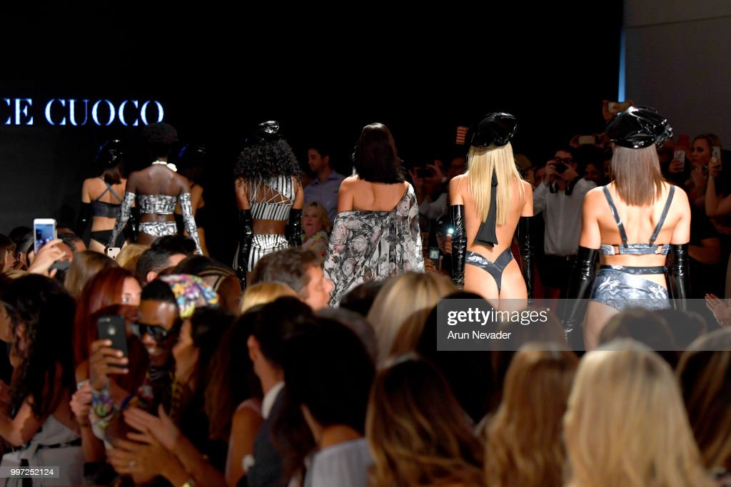 Models walk the runway for Candice Cuoco at Miami Swim Week powered by Art Hearts Fashion Swim/Resort 2018/19 at Faena Forum on July 12, 2018 in Miami Beach, Florida.