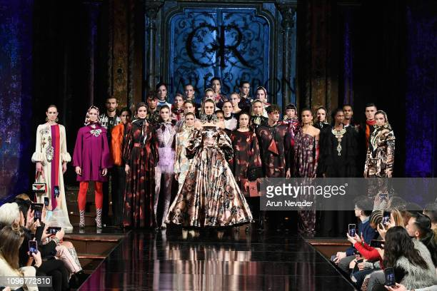 Models walk the runway for CHARLES AND RON At New York Fashion Week Powered By Art Hearts Fashion NYFW at The Angel Orensanz Foundation on February 9...
