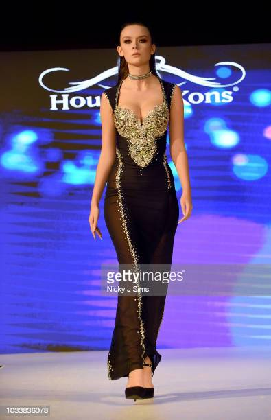 Models walk the runway for Chavez on day 1 of the House of iKons show during London Fashion Week September 2018 at the Millennium Gloucester London...