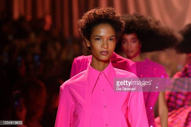 Models walk the runway for Christopher John Rogers during New York Fashion Week The Shows at Gallery I at Spring Studios on February 08 2020 in New...