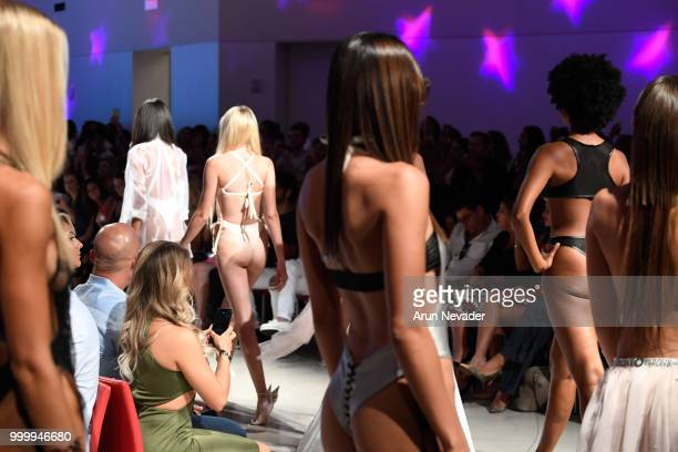 Models walk the runway for Cirone Swim at Miami Swim Week powered by Art Hearts Fashion Swim/Resort 2018/19 at Faena Forum on July 15 2018 in Miami...