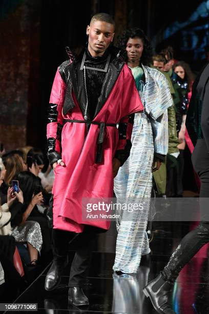 Models walk the runway for Dair Design by Odair Pereira At New York Fashion Week Powered By Art Hearts Fashion NYFW at The Angel Orensanz Foundation...