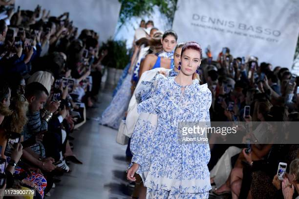Models walk the runway for Dennis Basso during New York Fashion Week The Shows at Gallery I at Spring Studios on September 11 2019 in New York City