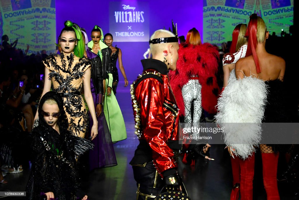 Models walk the runway for Disney Villains x The Blonds during New York Fashion Week: The Shows at Gallery I at Spring Studios on September 7, 2018 in New York City.