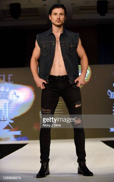 Models walk the runway for Edele on day 1 of the House of iKons show during London Fashion Week September 2018 at the Millennium Gloucester London...