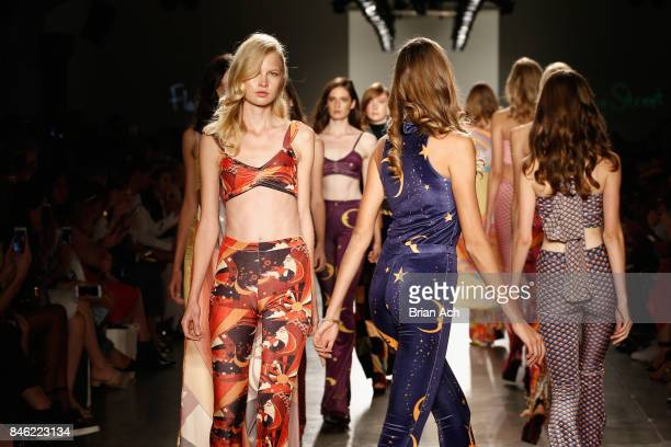 Models walk the runway for Flare Street at Fashion Palette New York Fashion Week Spring/Summer 2018 at Pier 59 on September 12 2017 in New York City