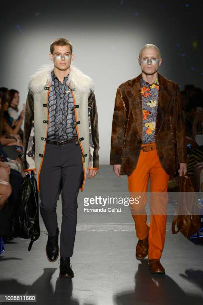 Models walk the runway for Flying Solo NYFW September 2018 during New York FashioN Week at Pier 59 on September 7 2018 in New York City