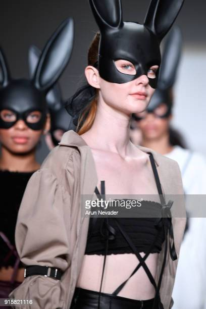 Models walk the runway for Global Fashion Collective Presents Fiction Tokyo At New York Fashion Week Fall 2018 at Industria Studios on February 8...