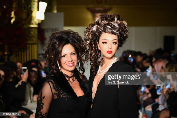 Models walk the runway for Hair Couture New York Fashion Week at The Prince George Ballroom on February 09 2020 in New York City