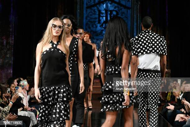 Models walk the runway for HOUSE OF BYFIELD At New York Fashion Week Powered By Art Hearts Fashion NYFW at The Angel Orensanz Foundation on February...