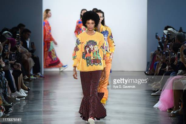 Models walk the runway for Indonesian Diversity SS20 Collection: 2Madison Avenue, Julianto, Ayumij, and Yogiswari at Spring Studios during New York...