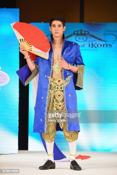 Models walk the runway for JAL Kids Fashion at the House of iKons show during London Fashion Week February 2018 at Millenium Gloucester London Hotel...
