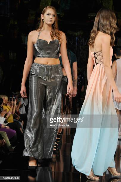 Models walk the runway for Jonathan Marc Stein Fashion Show at Art Hearts Fashion SS/18 at The Angel Orensanz Foundation on September 7 2017 in New...