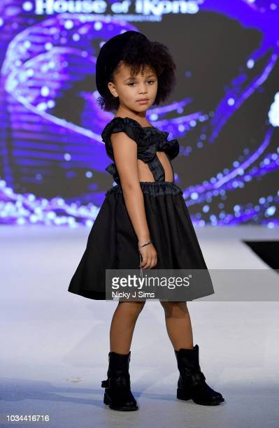 Models walk the runway for Lavender Rose on day 2 of the House of iKons show during London Fashion Week September 2018 at the Millennium Gloucester...