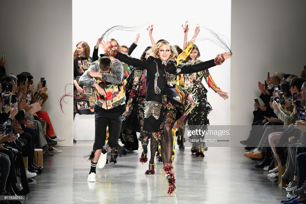 Models walk the runway for Libertine during New York Fashion Week: The Shows at Gallery II at Spring Studios on February 12, 2018 in New York City.
