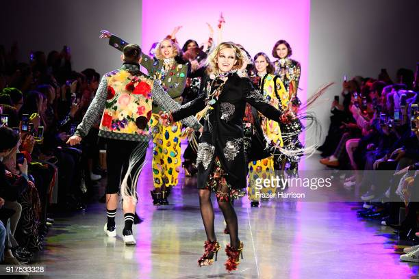 Models walk the runway for Libertine during New York Fashion Week The Shows at Gallery II at Spring Studios on February 12 2018 in New York City