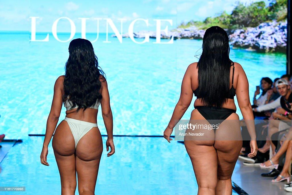 Models walk the runway for LOUNGE UNDERWEAR At Miami Swim