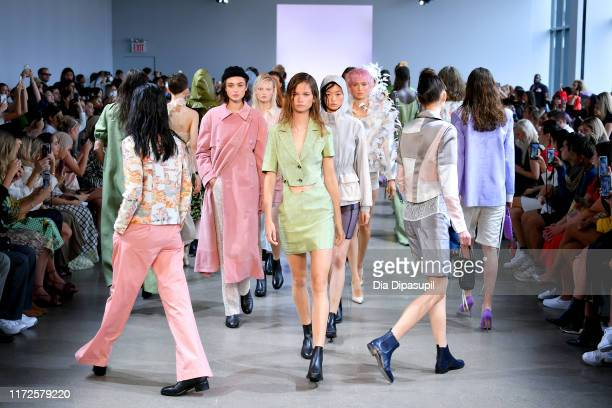 Models walk the runway for Mark Gong during New York Fashion Week The Shows at Gallery II at Spring Studios on September 05 2019 in New York City