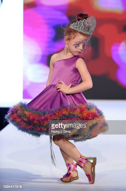 Models walk the runway for Me Clothing on day 2 of the House of iKons show during London Fashion Week September 2018 at the Millennium Gloucester...