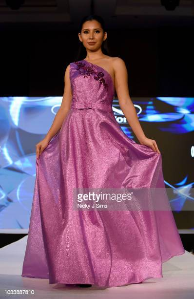Models walk the runway for One Off by Tatiana Pintilli on day 1 of the House of iKons show during London Fashion Week September 2018 at the...