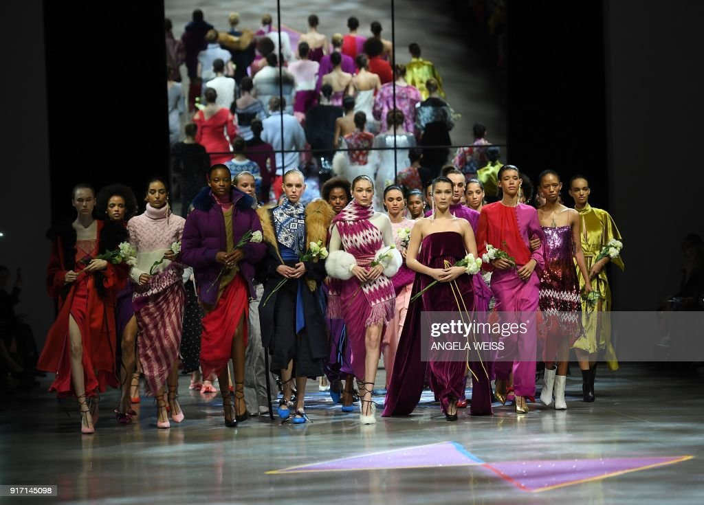 TOPSHOT - Models walk the runway for Prabal Gurung during New York Fashion Week: The Shows at Gallery I at Spring Studios on February 11, 2018 in New York City. /