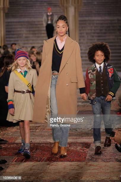 Models walk the runway for Ralph Lauren fashion show during New York Fashion Week at Bethesda Terrace on September 7 2018 in New York City