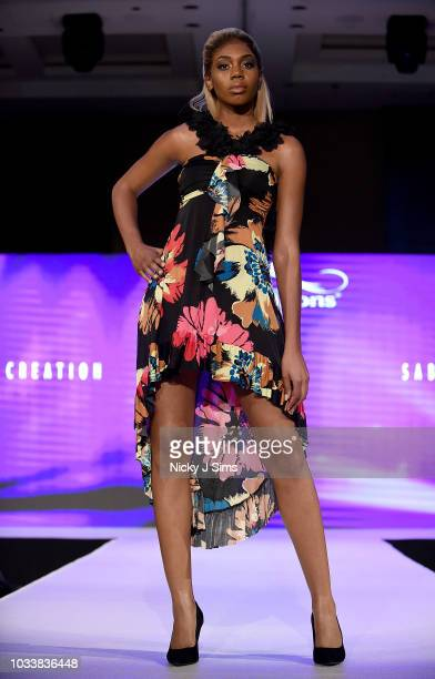 Models walk the runway for Sabas Creation on day 1 of the House of iKons show during London Fashion Week September 2018 at the Millennium Gloucester...