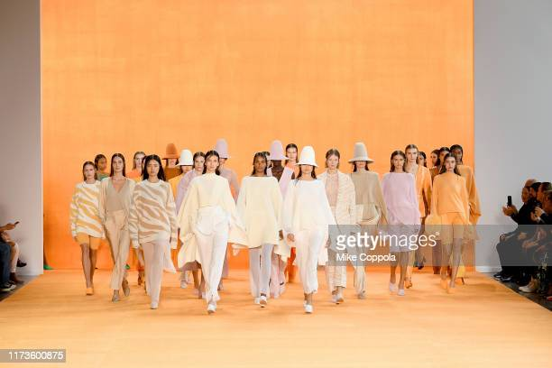 Models walk the runway for Sally LaPointe during New York Fashion Week: The Shows on September 10, 2019 in New York City.