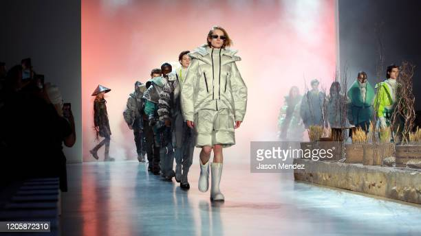 Models walk the runway for Seven Crash during New York Fashion Week: The Shows at Gallery I at Spring Studios on February 12, 2020 in New York City.