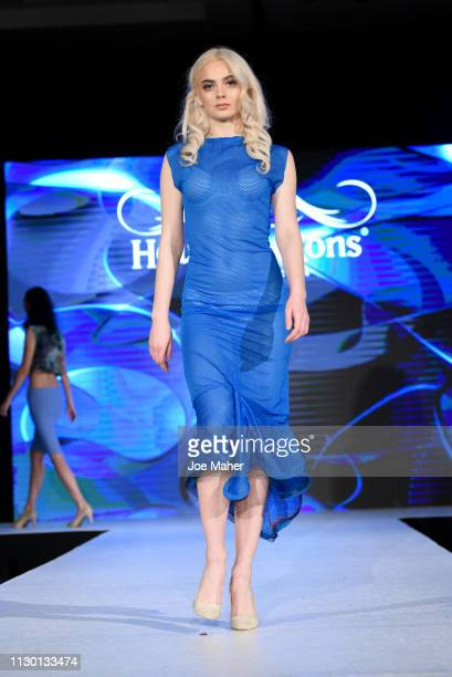 Models walk the runway for Sofia Mozley at the House of iKons show during London Fashion Week February 2019 at the Millennium Gloucester London Hotel...