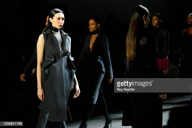Models walk the runway for Sukeina during New York Fashion Week The Shows in Gallery I at Spring Studios on February 12 2020 in New York City