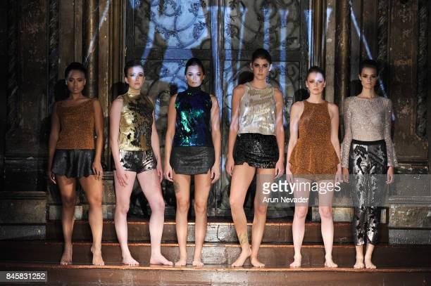 Models walk the runway for the 21 Reasons Why by Madeline Stuart fashion show during New York Fashion Week NYFW Art Hearts Fashion at The Angel...