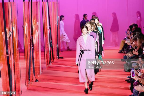 Models walk the runway for the 3.1 Phillip Lim collection during, New York Fashion Week: The Shows at Spring Studios on February 13, 2017 in New York...