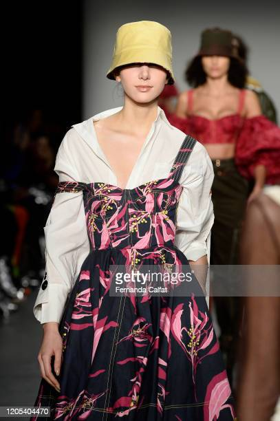 Models walk the runway for The Arlo Studio at Global Fashion Collective II during New York Fashion Week The Shows at Pier 59 Studios on February 10...