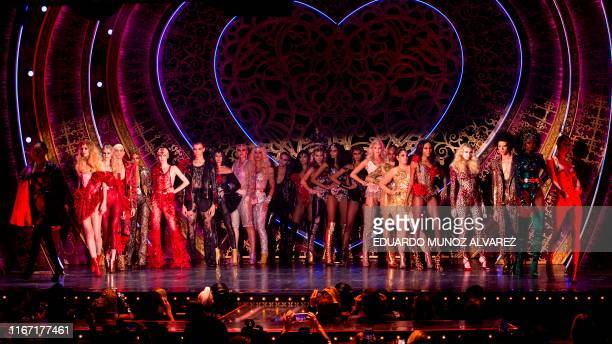 TOPSHOT Models walk the runway for The Blonds x Moulin Rouge The Musical during New York Fashion Week The Shows on September 09 2019 in New York City