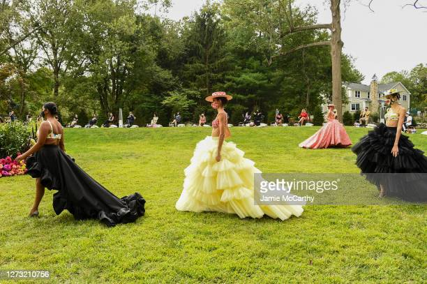 Models walk the runway for the Christian Siriano Collection 37 2020 Fashion Show on September 17 2020 in Westport Connecticut
